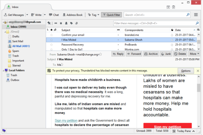 Launch Mozilla Thunderbird