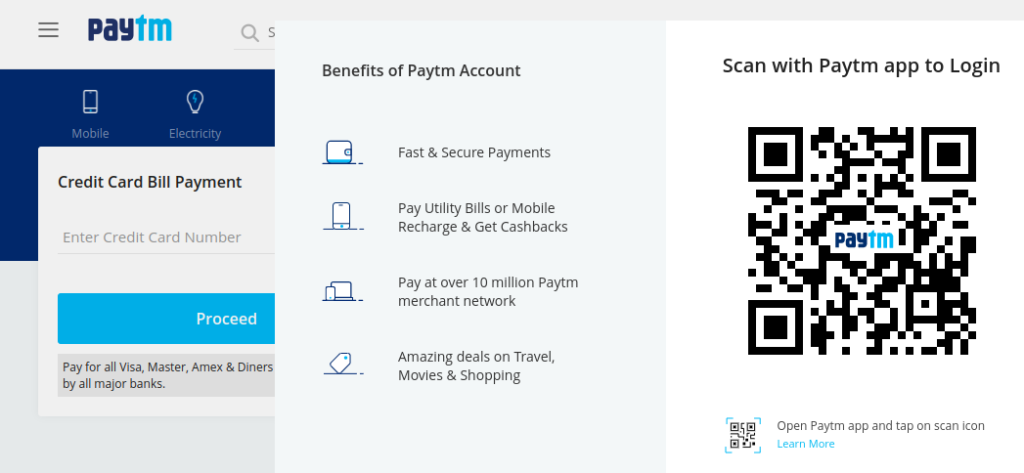 Credit Card Payment - Pay Bills Using Paytm Wallet