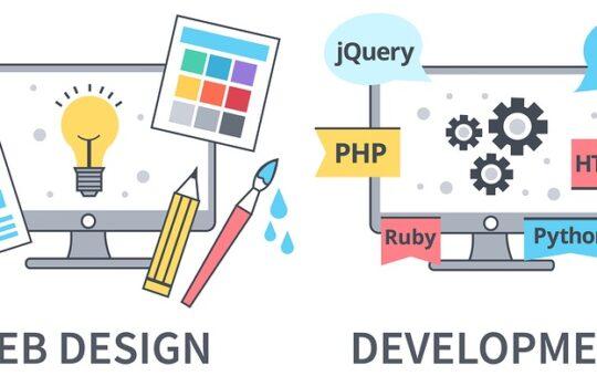 balance between design and web development